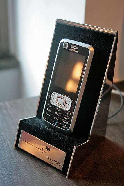 They give you a mobile phone that's cloned to your hotel room!