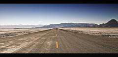 Speedway Bound (Nelson Vargas Photo) Tags: road utah highway desert wideangle panoramic saltflats bonneville converginglines nikonpassion bonnevillesaltflatsinternationalspeedway