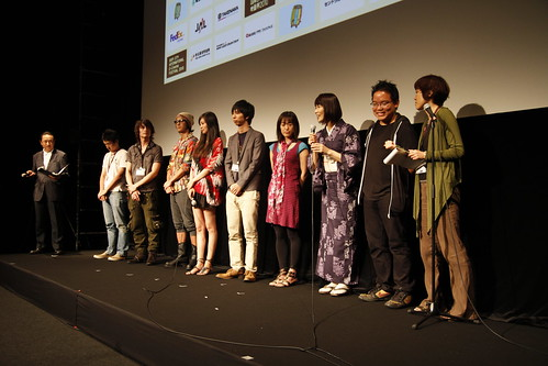 Kingyo actress Qyoko Kudo introduces herself to the audience