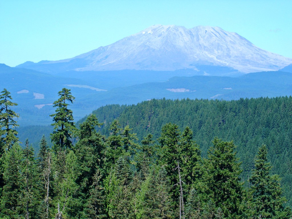 Five years ago: Last view of Mt St Helens