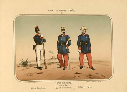 015- Álbum de la Infantería Española..-1861- conde de Clonard
