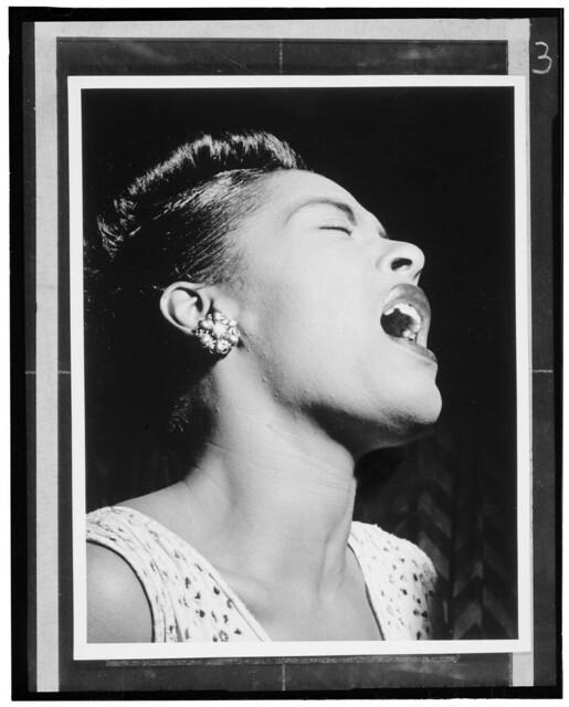 [Portrait of Billie Holiday, Downbeat, New York, N.Y., ca. Feb. 1947] (LOC)