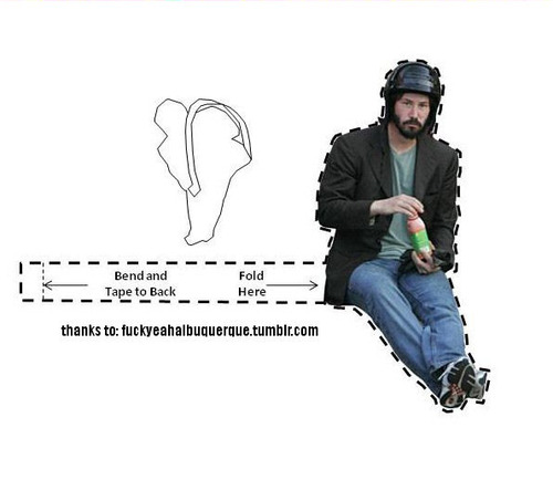 Sad Keanu Reeves Meme - Now With Helmet [pic]