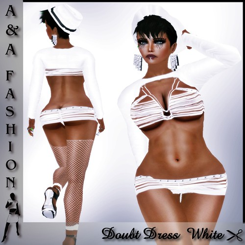 A&A Fashion Doubt Dress  White