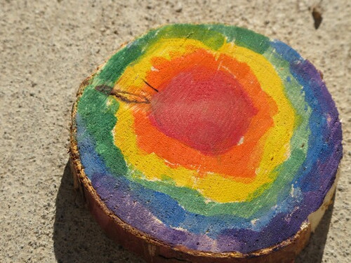 Rainbow nature art