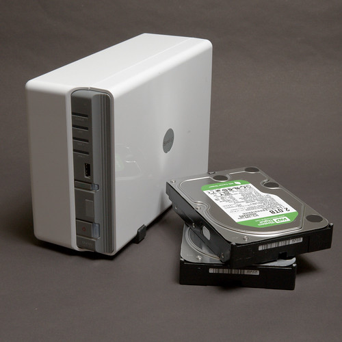 Disk Station with disks vertical