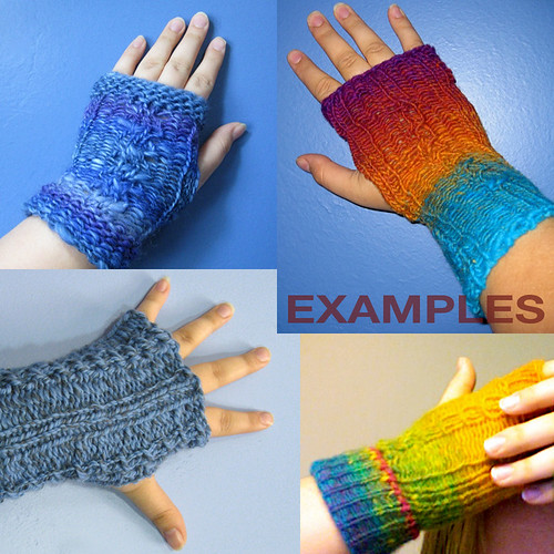 Custom fingerless mittens