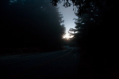 Sunrise.  And the road. Photo