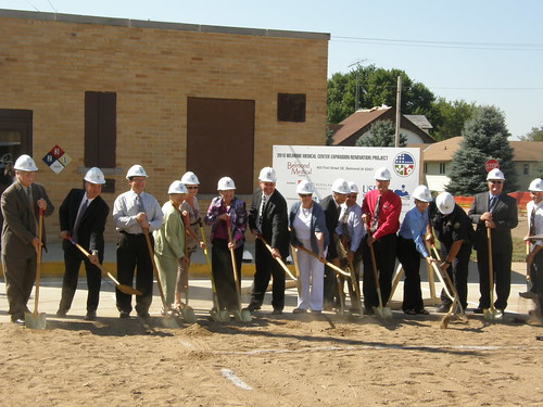 City officials joined representatives from USDA Rural Development last month to break ground for a hospital expansion project in Belmond, Iowa.