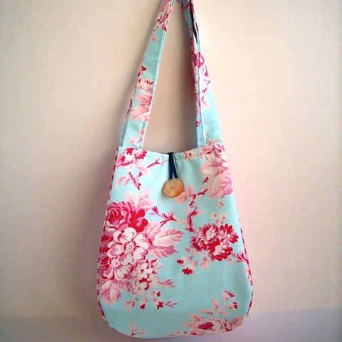 Blue Floral Teeny Bag
