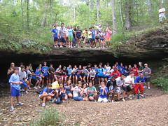 Ninth grade retreat at Camp Loucon