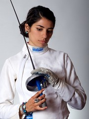 Natalie Vie Unguarded (Corrin Green) Tags: arizona woman white argentina phoenix girl mujer foil sword fencing asu natalie scottsdale latina olympic brunette vie epee fencer leicasummitar50mmf20ltm