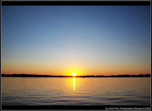 Sunset over Lake Dalrymple