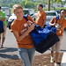 Returning students help first-years move in