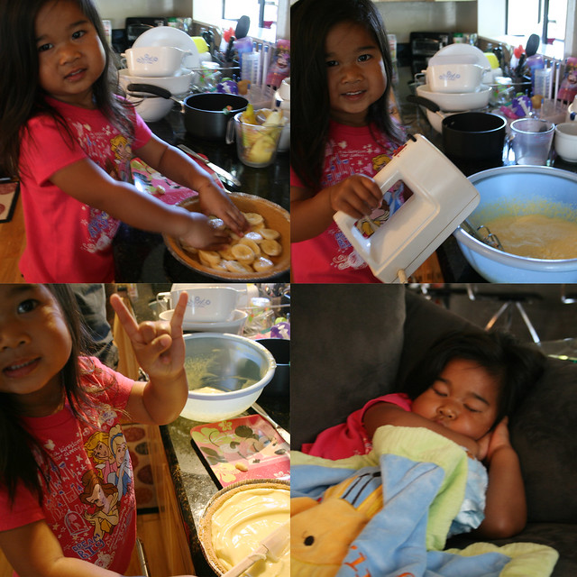 raine helps make pie