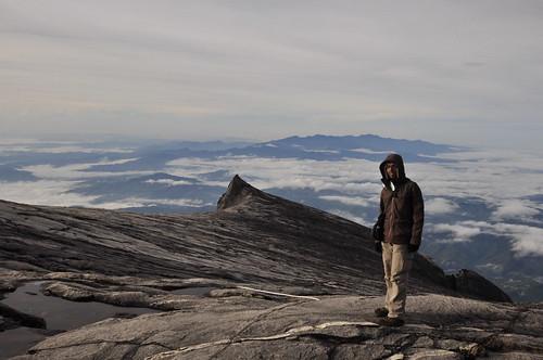 On top of Mt Kinabalu peak