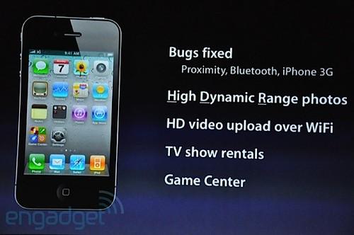 Apple iOS 4.1 Changelog