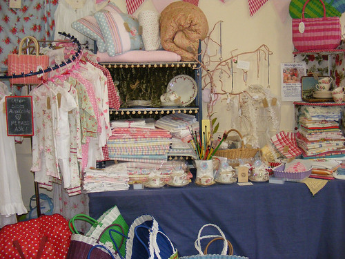 shabby chick stall at the Bizarre Bazaar Ashburton