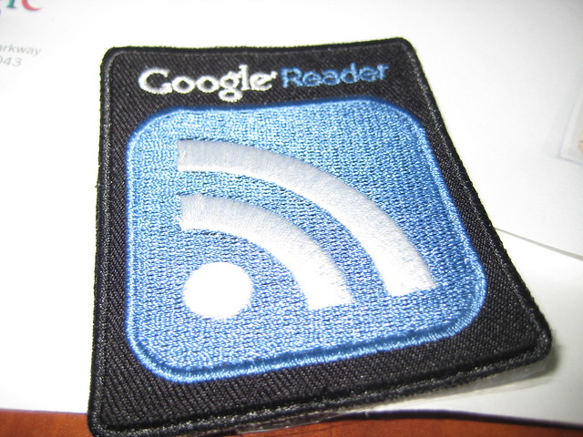 Google Reader Iron on Patch