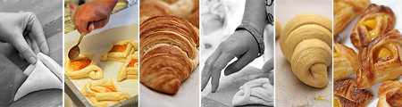 collage croissant e danish