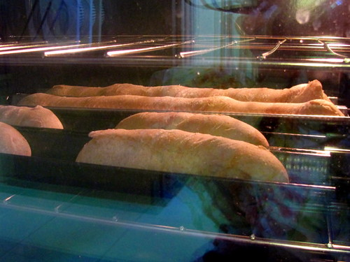 Baguettes in Oven
