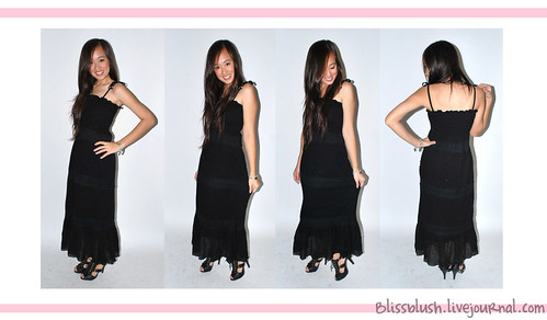 Black Tier Maxi Dress
