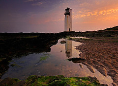 Southerness (Charlotte Brett Photography) Tags: sunset lighthouse beach coast scotland solway rockpool dumfriesandgalloway southerness southernesslighthouse