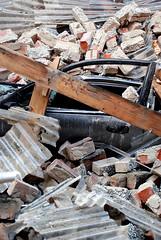 Car & Bricks (geoftheref) Tags: new christchurch aftermath earthquake state police canterbury zealand damage emergency earthquakes aotearoa rubble eqc geoftheref eqnz eqnzchc2010