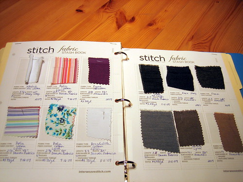 Fabric Stash book inside pages