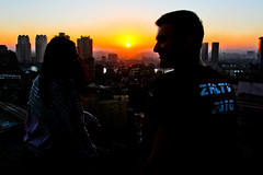 Infinite view (modenadude) Tags: sky sun yellow sunrise buildings smog haze smoke muslim islam horizon north egypt cairo pollution egyptian ramadan shams cairene kiranalvi mattlinarelli