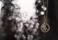 Peace (MJ ♛) Tags: white color colors canon logo eos focus peace bokeh f18 ef 2010 40d