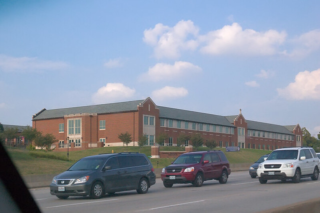 Christian Brothers College High School, in Town and Country, Missouri, USA - exterior as seen from Interstate 64