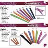 Chopsticks & Knife ; Rp. 28.000