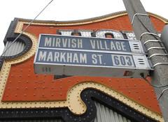 Mirvish Village / Markham Street (Sean_Marshall) Tags: toronto ontario streetsign honesteds koreatown bloorstreet mirvishvillage