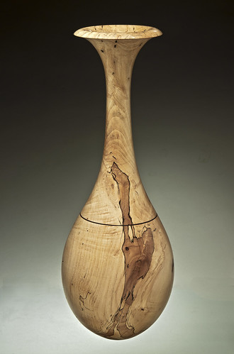 Spalted Maple Tall Hollow Vessel