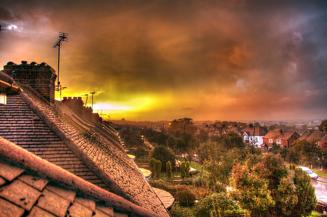 Sunset and Heavy Rain_HDR