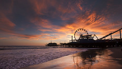 Santa Monica Pier at Sunset (Raf Ferreira) Tags: california park santa sunset usa clouds pier monica rafael ferreira peixoto