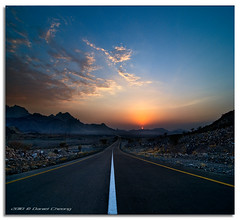 Serenity (DanielKHC) Tags: road sunset mountains lines clouds digital point 1 interestingness high nikon dubai desert dynamic uae calm explore serenity vanishing range fp frontpage dri hdr hatta blending d300 danielcheong danielkhc tokina1116mmf28 gettyimagesmeandafrica1