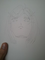 Manga Girl - Up Angle - Pencil