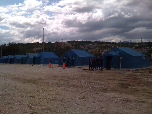 Mounting tents in pairs (AQ) for national meeting