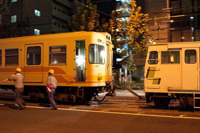 伊予鉄道800系 クハ856 廃車回送