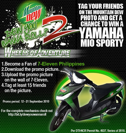 Win a Yamaha MIO Sporty from 7 Eleven and Mountain Dew Facebook Promo - Freebies, Giveaways, Promos for Pinoys - PinayReviewer.com
