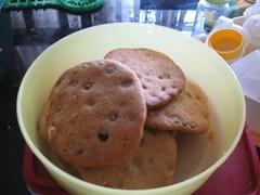 chocolate chip cookies yang meleber