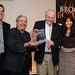 Johnny Temple, Brooklyn Borough President Marty Markowitz, John Ashbery, Brooklyn Poet Laureate Tina Chang, Brooklyn Book Festival Gala, Skylight One Hanson, September 11, 2010