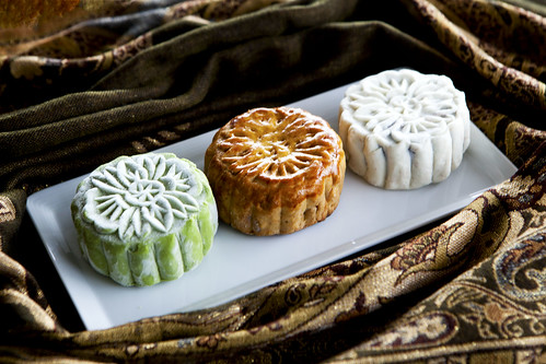 Three types of mooncakes
