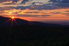 SNP Sunburst Sunset (matt house) Tags: sunset virginia va flare layers ridges skylinedrive shenandoahnationalpark snp f32 canonef70200mmf4lusm rangeviewoverlook