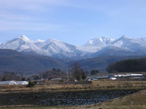 蓼科の里から見た八ヶ岳連峰 07.12.19 by Poran111