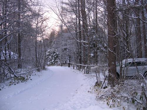 12月夕方の山荘前道路 07.12.18 by Poran111