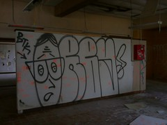 (Pastor Jim Jones) Tags: graffiti btk throwup lcm orby throwy