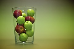 259/365 Apples in a glass